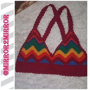 🍍Forever 21 Women's Crochet Bikini Top